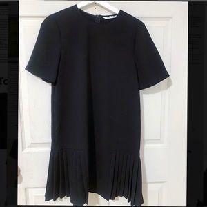 Zara pleated dress black S